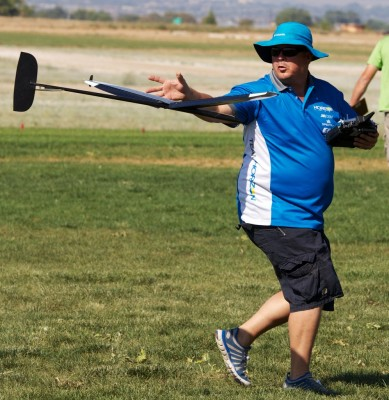 Gavin has a lot of power for a short guy. Here he is making another great catch.